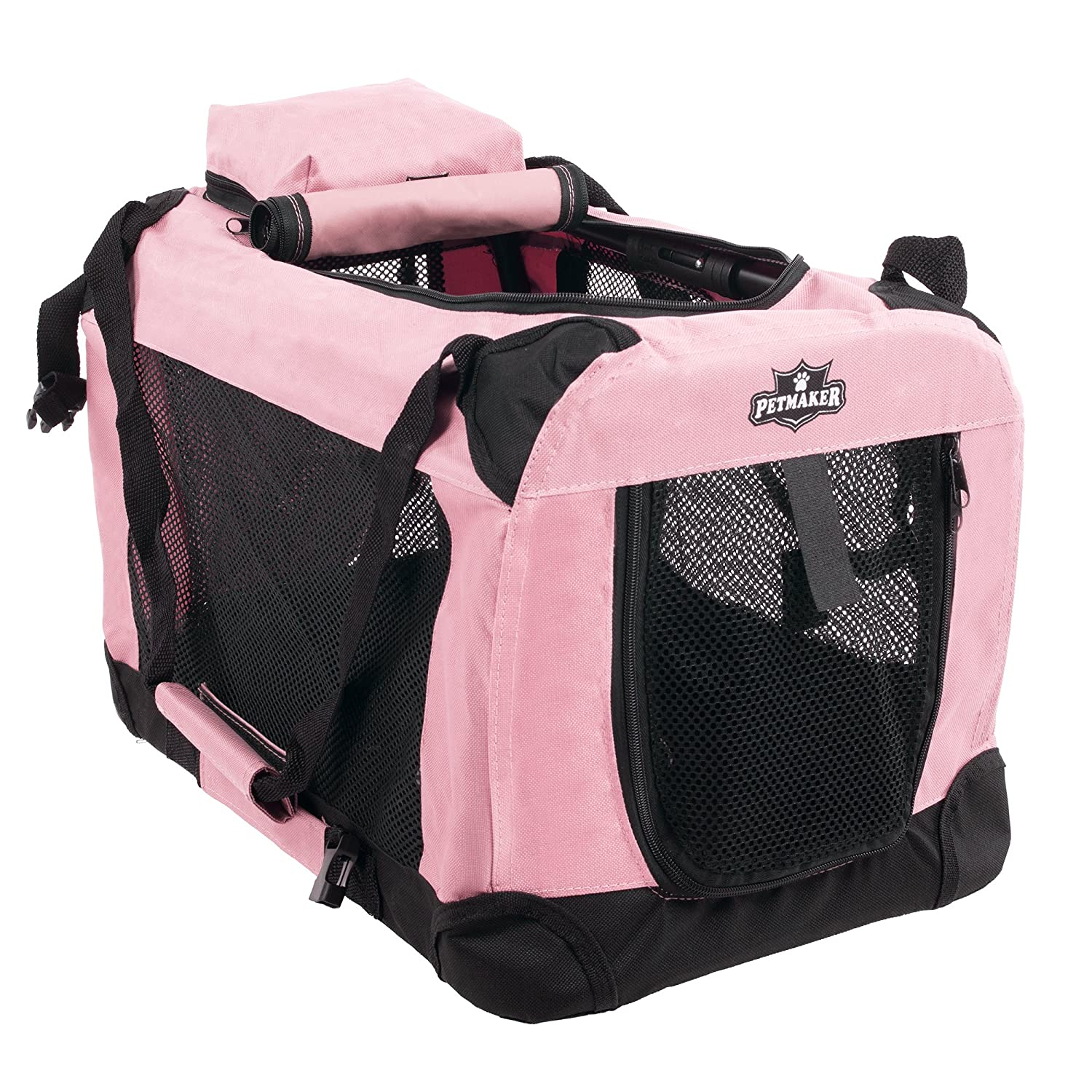 PETMAKER Portable Soft Sided Pet Crate, 20  x 12 , Pink