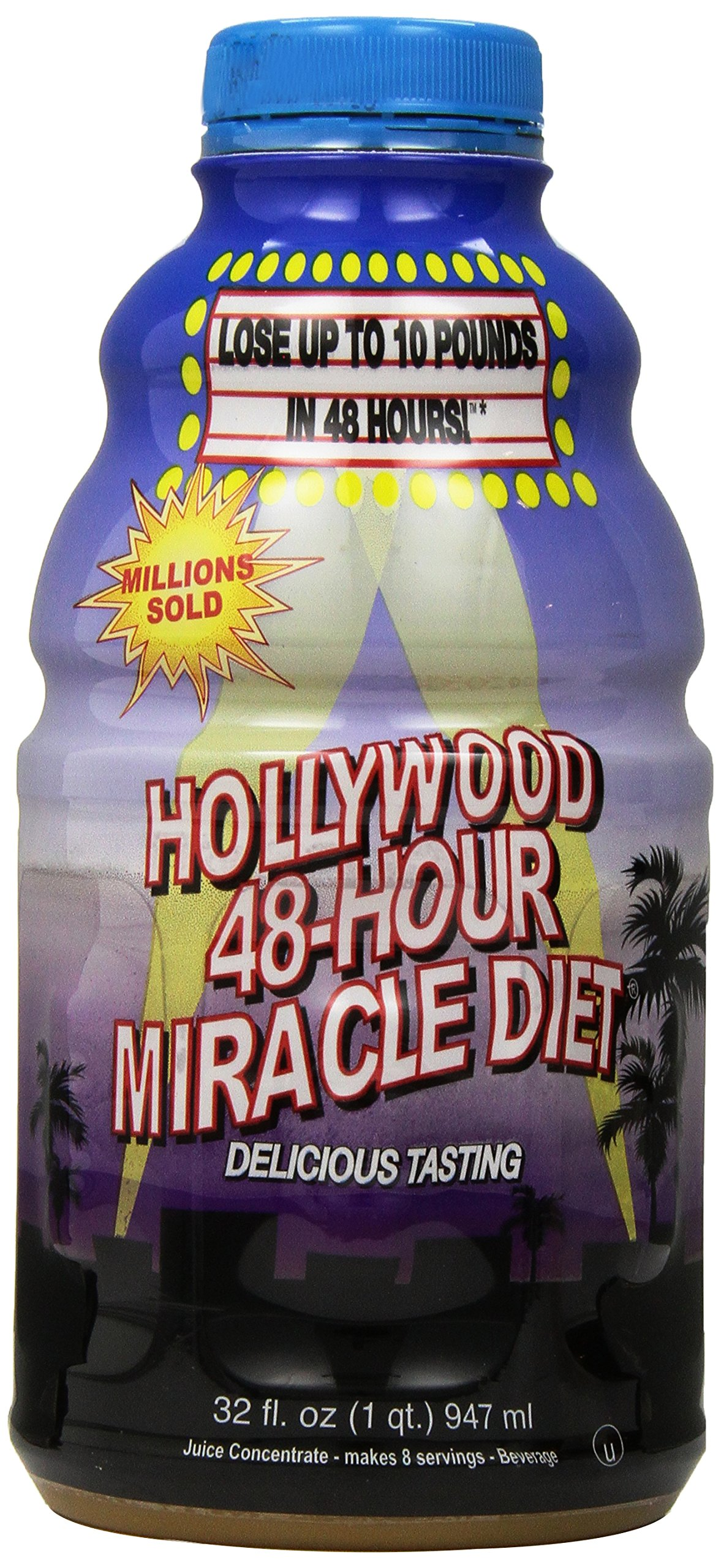 Hollywood 48-Hour Miracle Diet, 32-Ounce Bottles (Pack of 2) by Hollywood Miracle Diet