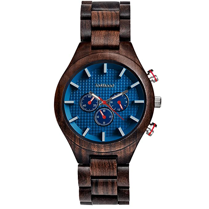 Amazon.com: TruWood Marine Wooden Watch with Black Sandalwood and All-Wood Band: Watches