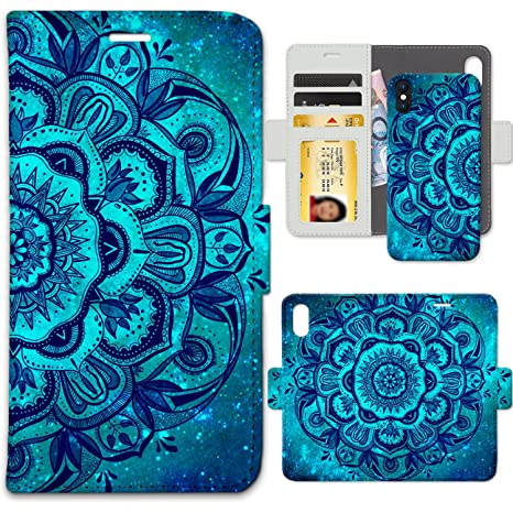 coque iphone 8 plus étui mandala à rabat folio motif design