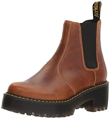 96d5b1f0dad Dr. Martens Women s Rometty Orleans Leather Fashion Boot Butterscotch 8  Medium UK (10 US
