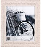 Kiera Grace Maya Picture Frame, 8  by  10 Inch , Weathered White Beachwood