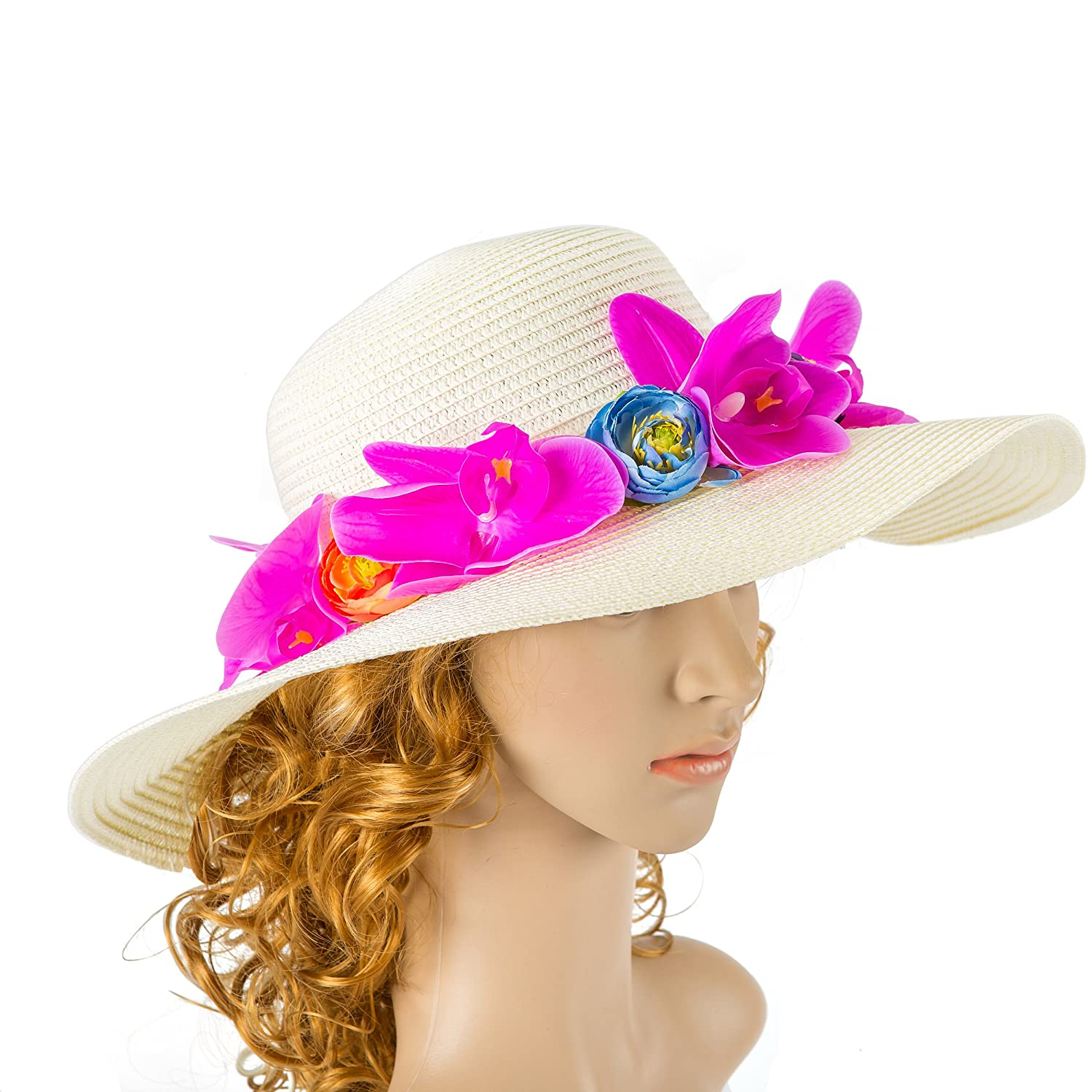 Off White Wedding Hat with orchid Flower and Bow Kentucky Derby Hat Wedding Accessory Cocktail Hat Tea Party Hat