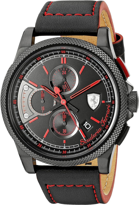 Ferrari Men s 0830273 FORMULA ITALIA S Analog Display Japanese Quartz Black Watch