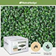 "NatraHedge Artificial Boxwood Hedge Mat 20""x 20"" Panels (12 Pack)"