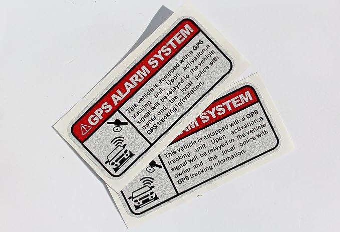 greestick GPS 2 x Unidades para Coche Motocicleta Bicicleta Camión Coche Security Pegatinas Netbote24 - Pegatinas de Advertencia Lado Scheibe antirrobo: ...