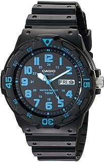 5d6d7597 Amazon.com: Casio Men's MRW200H-1BV Black Resin Dive Watch: classic ...
