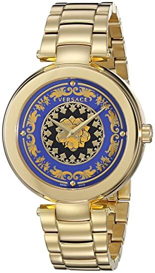 9e3e7d372be Versace Women s VQR040015 Mystique Foulard Analog Display Quartz Gold  Watch  Amazon.ca  Watches