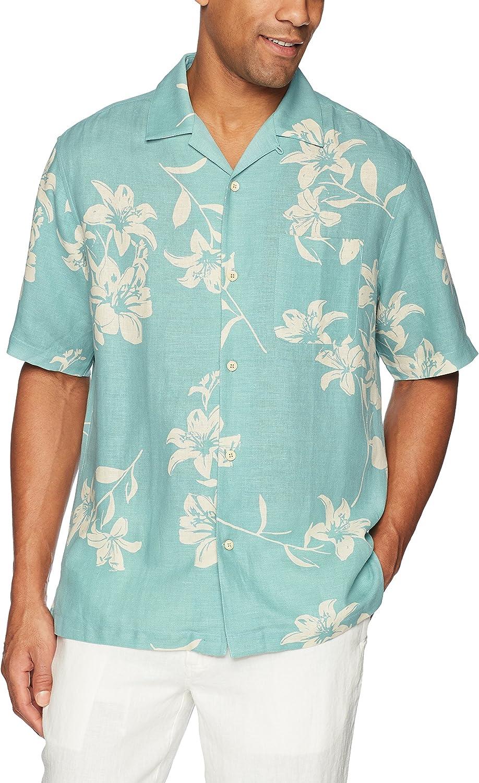 28 Palms Relaxed-fit Silk//Linen Tropical Hawaiian Shirt Homme Marque