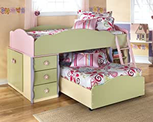 Amazon Com Doll House Youth Twin Over Twin Loft Bed Furniture Amp Decor