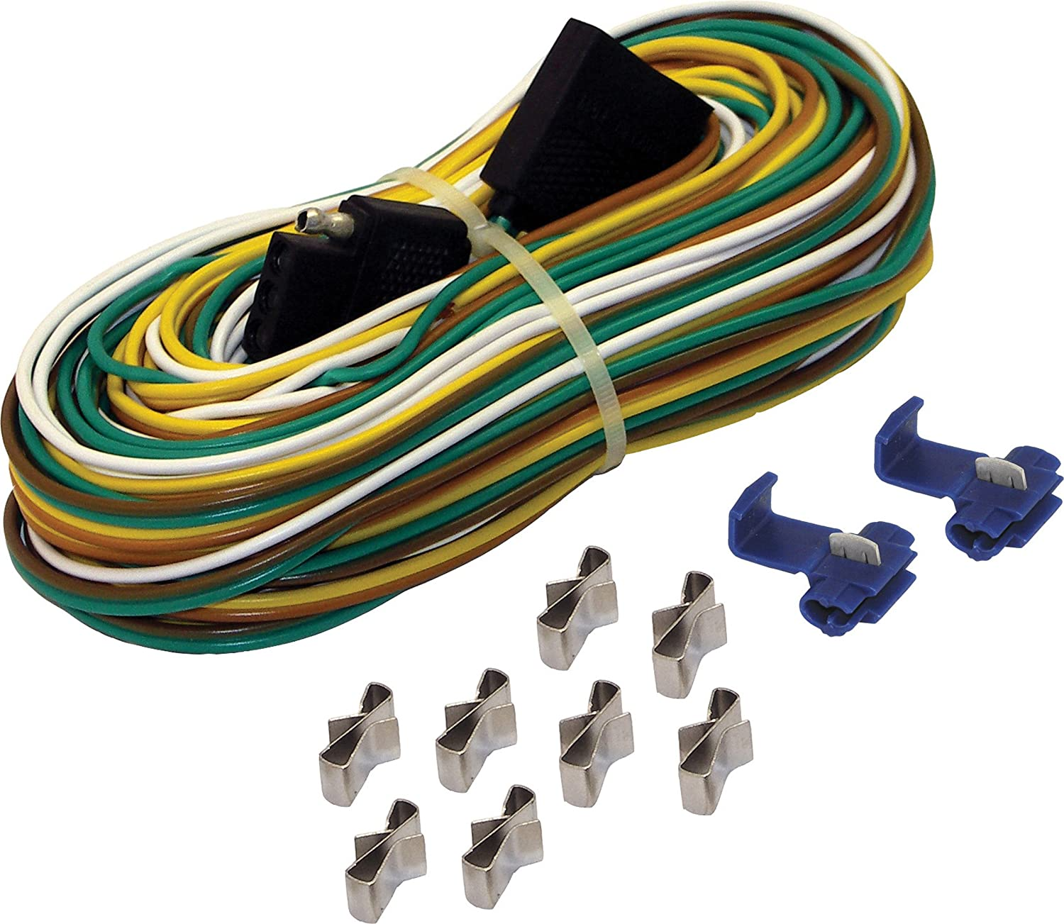 91tXlXxd65L._SL1500_ amazon com shoreline marine 4 way trailer wire harness (25 feet trailer wiring harness clips at soozxer.org