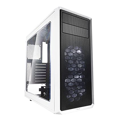 Fractal Design Focus G Midi-Tower Blanco Carcasa de Ordenador - Caja de Ordenador (Midi-Tower, PC, ATX,ITX,Micro-ATX, Blanco, Blanco, Ventiladores de ...