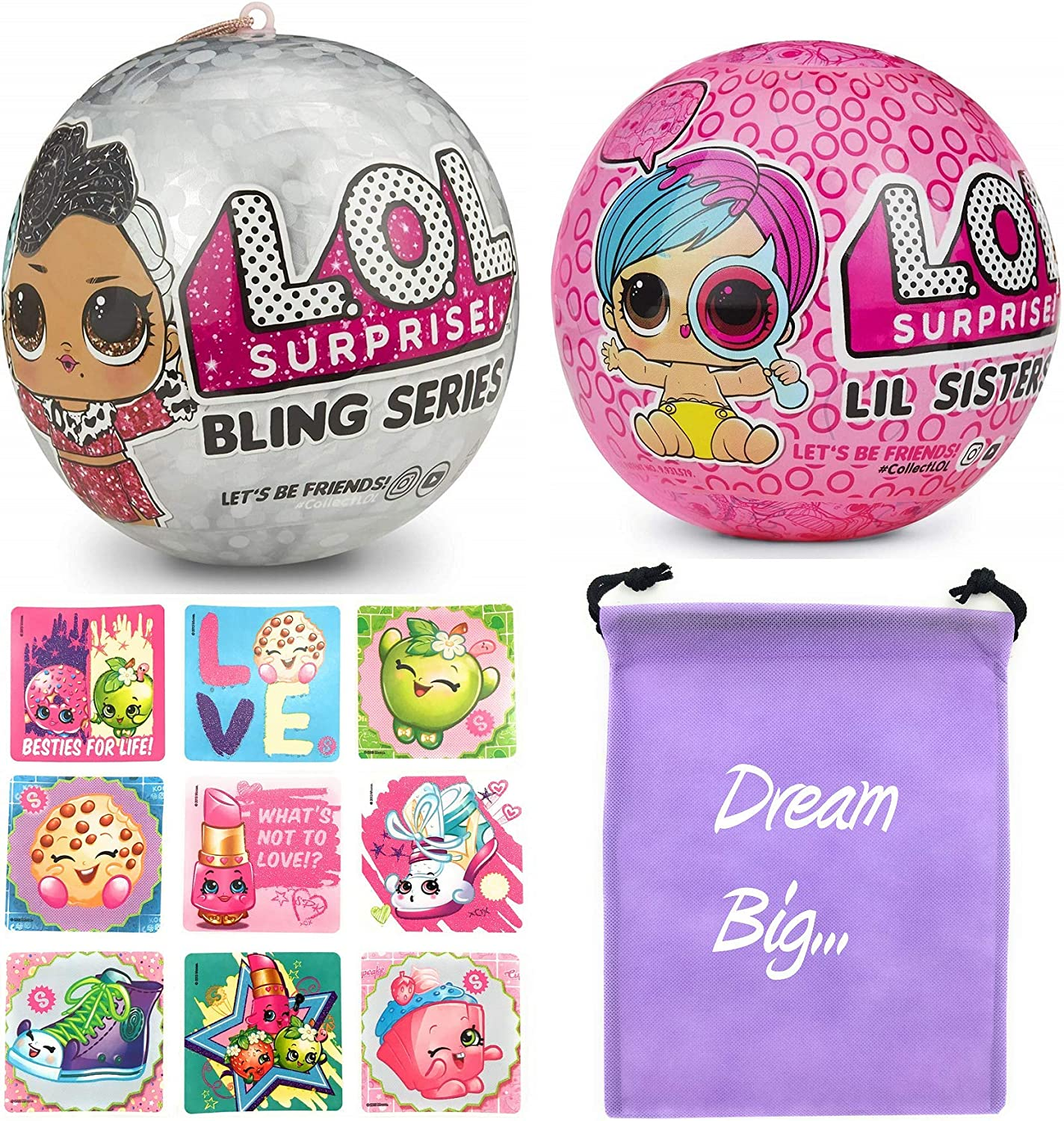 Bag FOR LOL Surprise LiL Sisters L.O.L GLITTER QUEEN doll toy SERIES 2 Gift