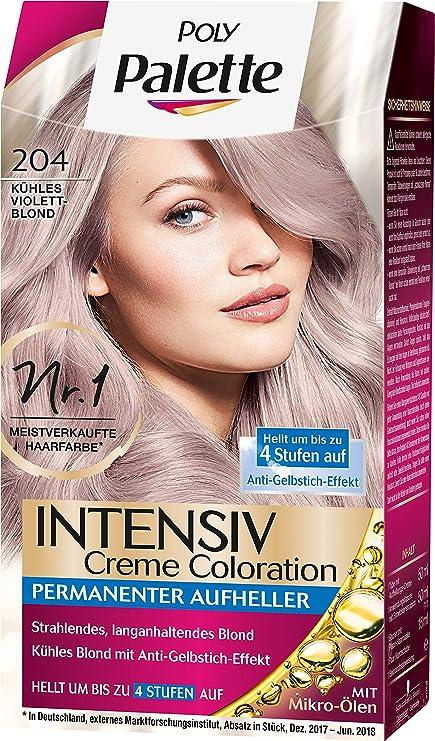 Poly Palette Intensiv Creme Coloration 204 Violet Blond, 1 unidad (1 x 115 ml)