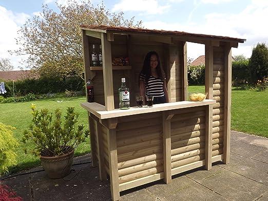 Tanglewood Cedar - Barra de bar de cedro para jardín hecha a mano ...