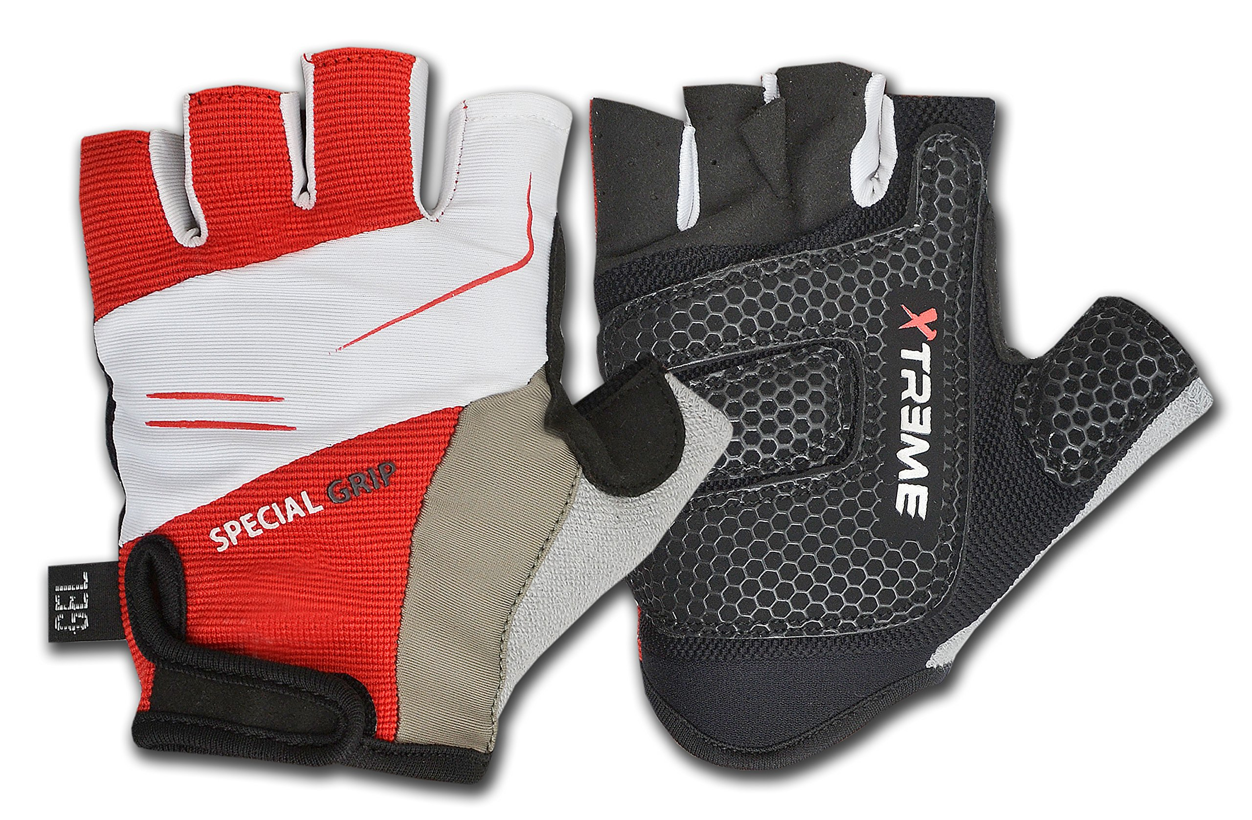 UK Cycling Gloves Half Finger Gel Palm Shock Absorption Fitness Training Sports