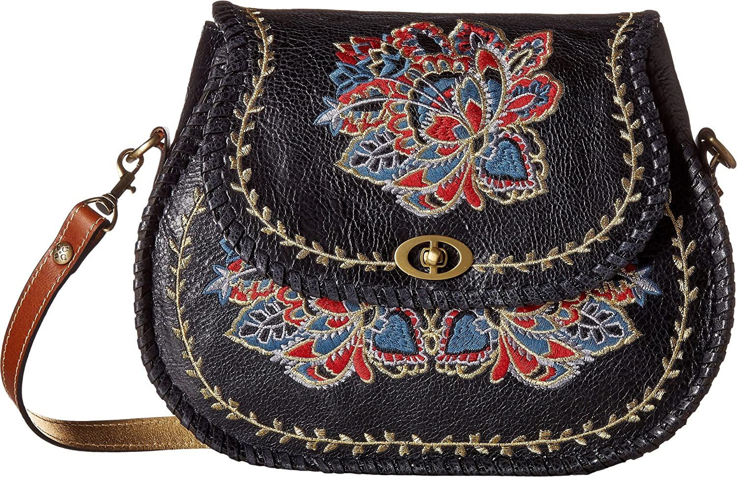 90dadef2d9a1 Patricia Nash Women s Arezzo Flap Shoulder Bag Navy One Size  Handbags   Amazon.com