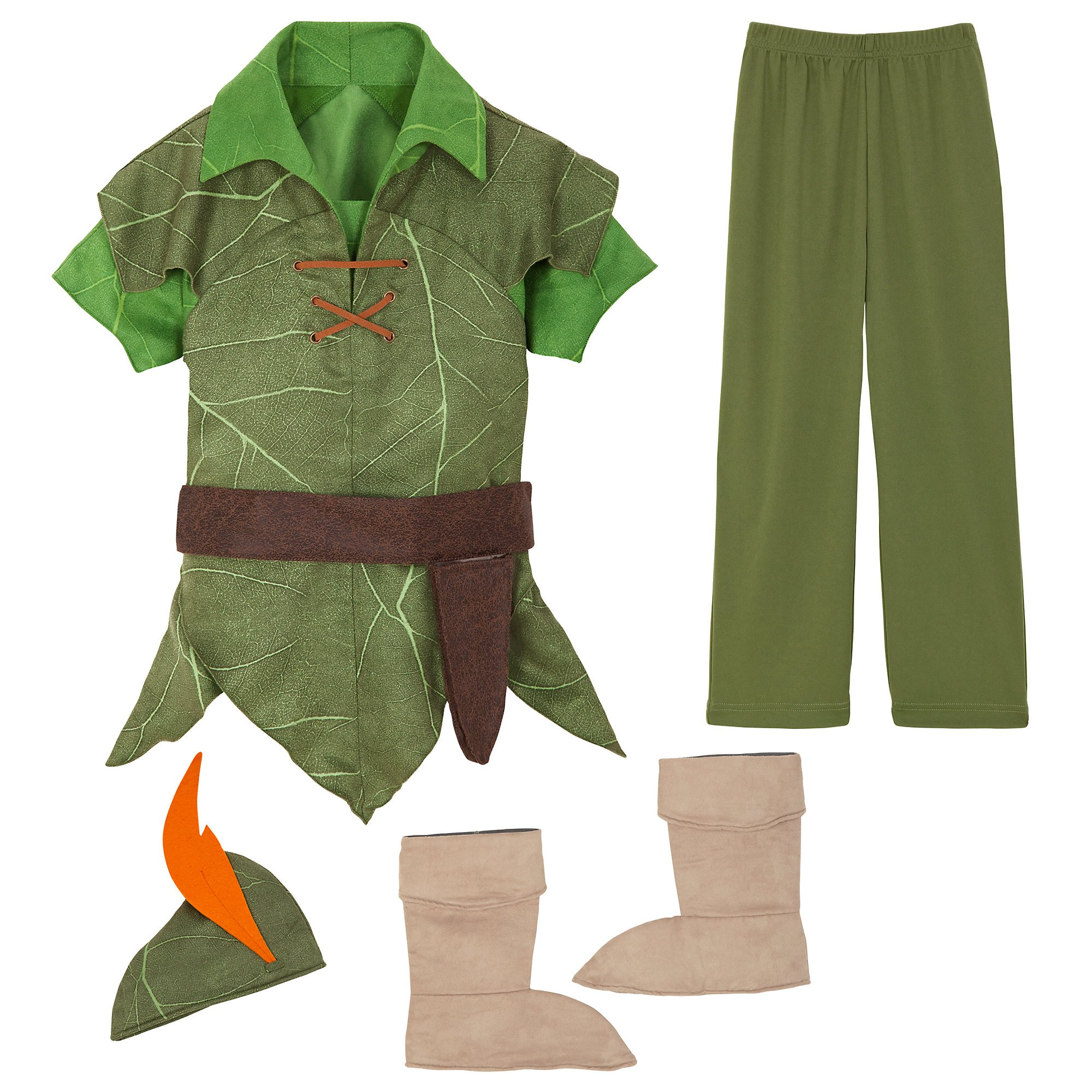Disney Peter Pan Costume for Kids Size 5/6 Green