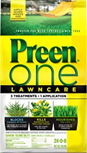 Preen 2164168 One LawnCare Weed & Feed, 36 lb. -Covers 10,000 sq. ft