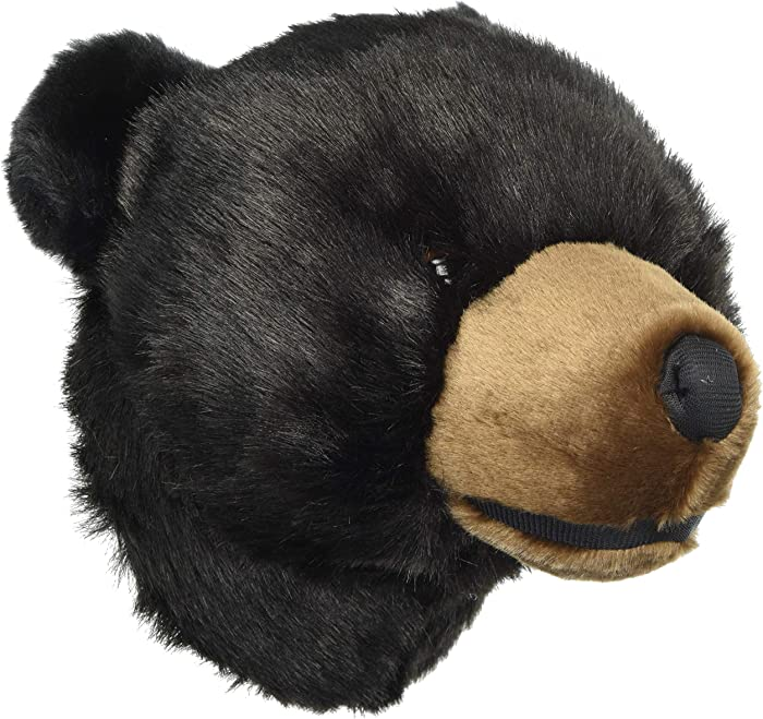 Carstens, Inc Wall Décor Friendly Faces Mini Bear Plush Animal Trophy Mount, 20 inches