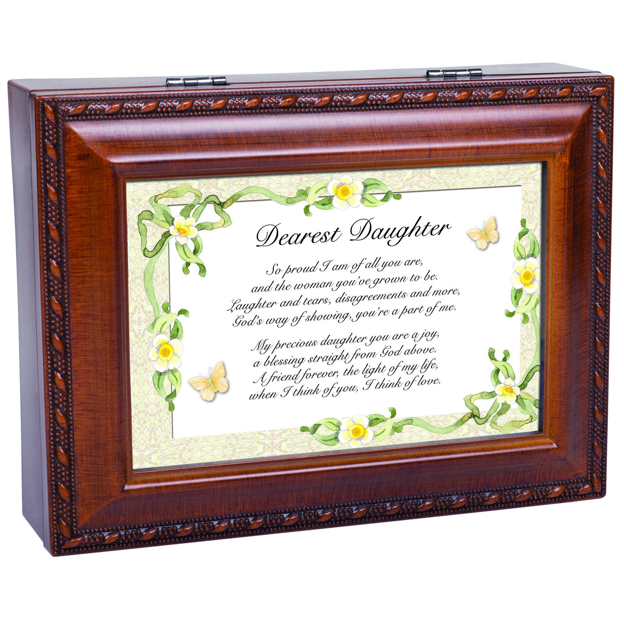 Cottage Garden Dearest Daughter Woodgrain Music Box Plays Light Up My Life by Cottage Garden (Image #7)