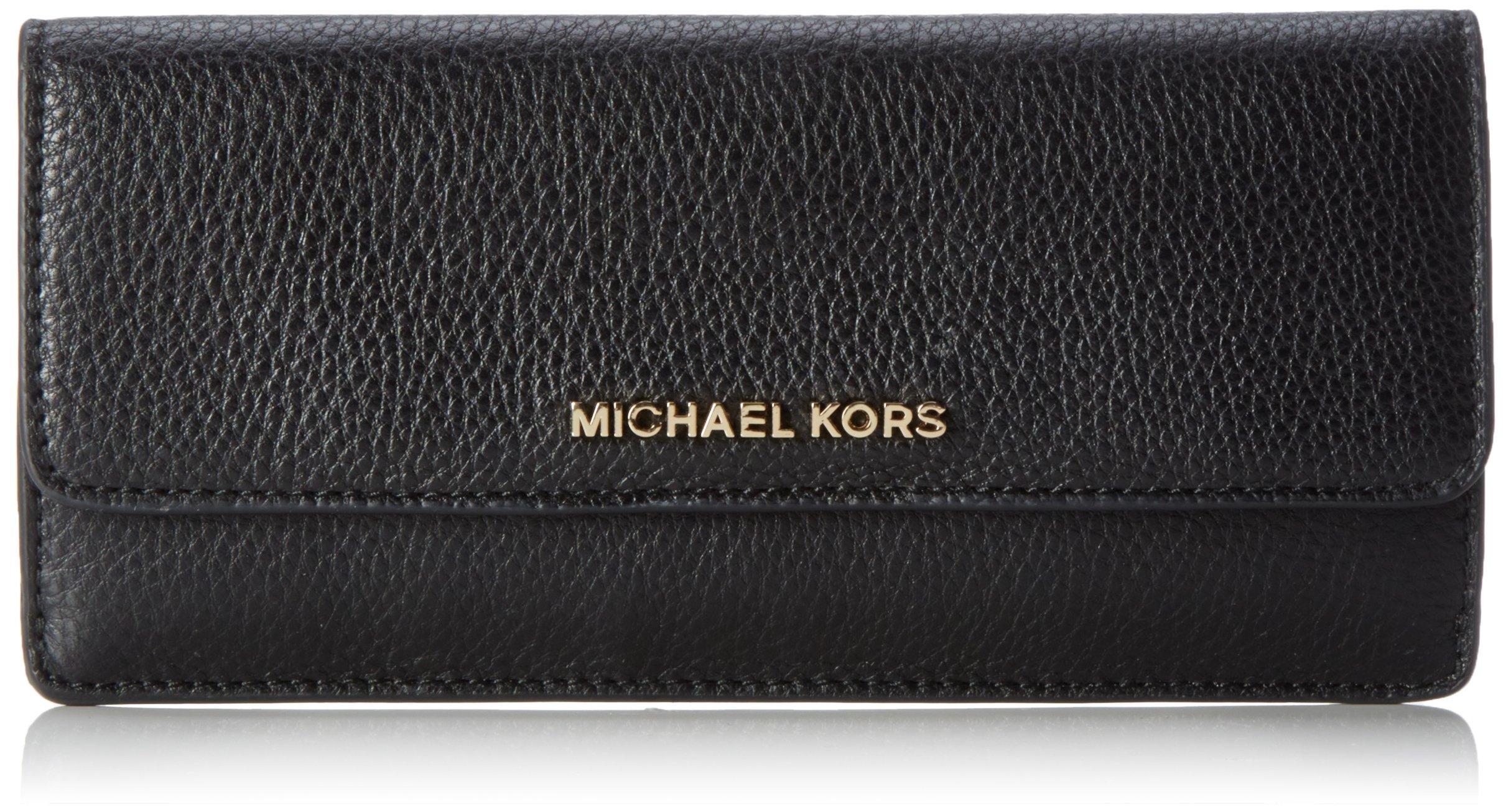 MICHAEL Michael Kors Women's Flat Wallet, Black, One Size