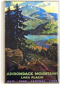 Adirondack Mountains Travel Poster Fridge Magnet (2 x 3 inches)