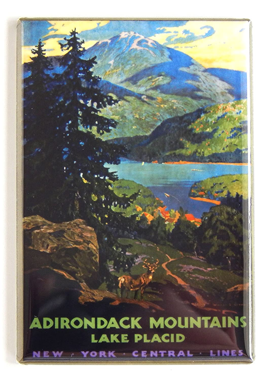 Adirondack Mountains Travel Poster Fridge Magnet (2.5 x 3.5 inches)