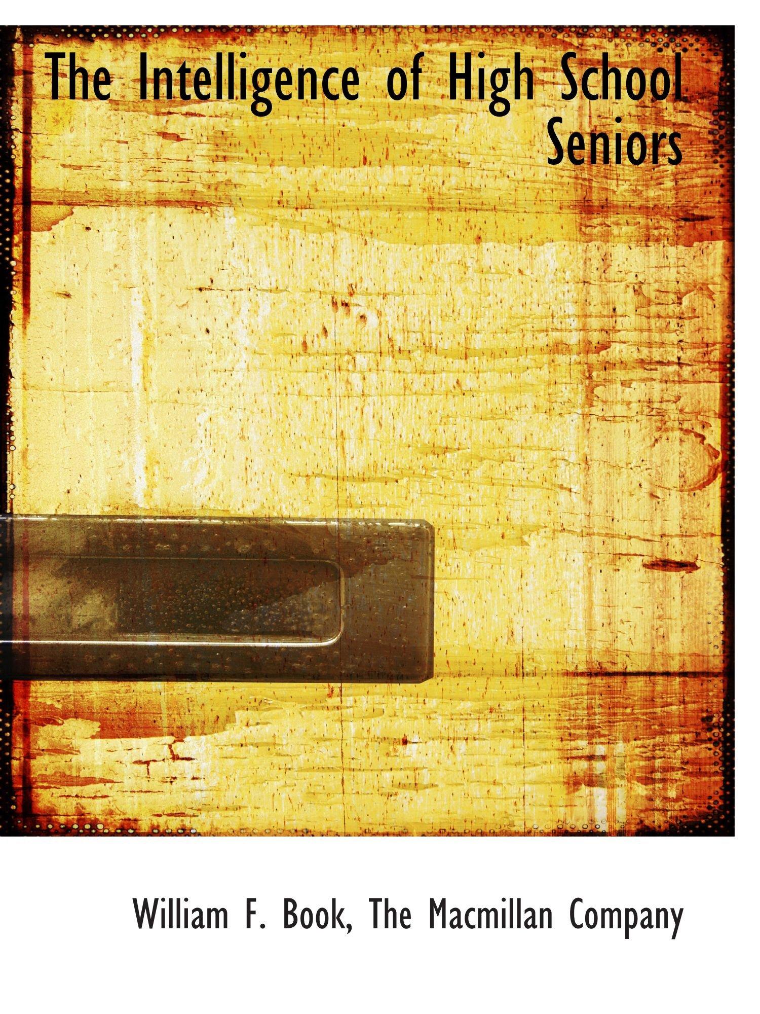 The Intelligence of High School Seniors ePub fb2 ebook