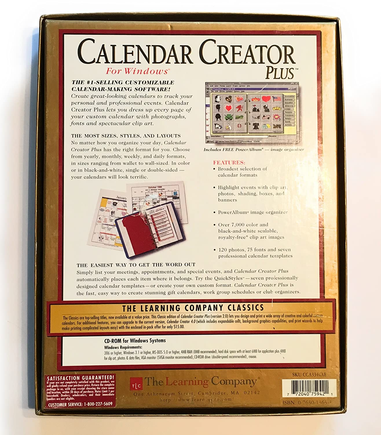 amazon com calendar creator plus gold edition