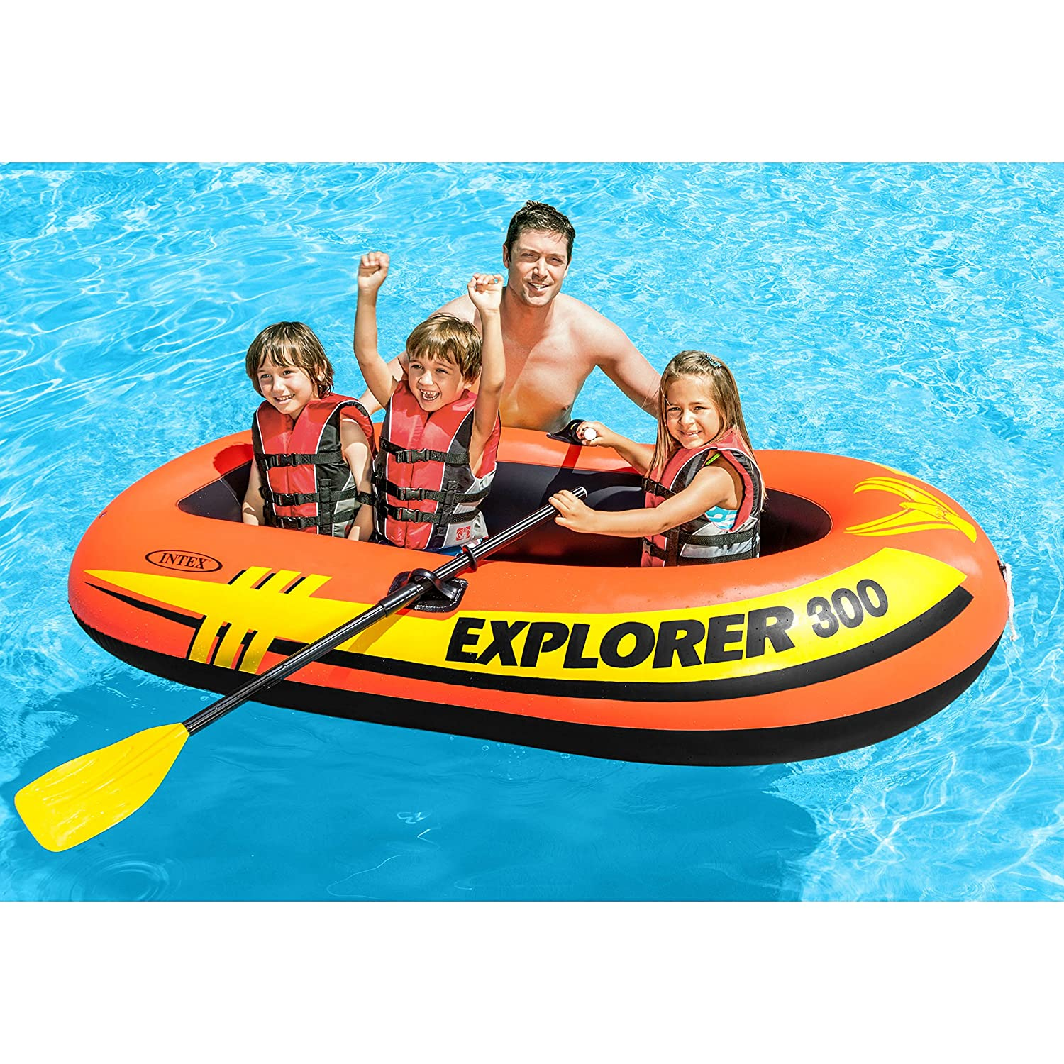 Intex 3 Person Inflatable Boat...