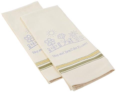 Toallas de cocina con sello Tobin para bordado (2 unidades), 45,7