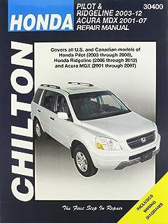 amazon com acura mdx honda pilot ridgeline haynes manual 2001 rh amazon com