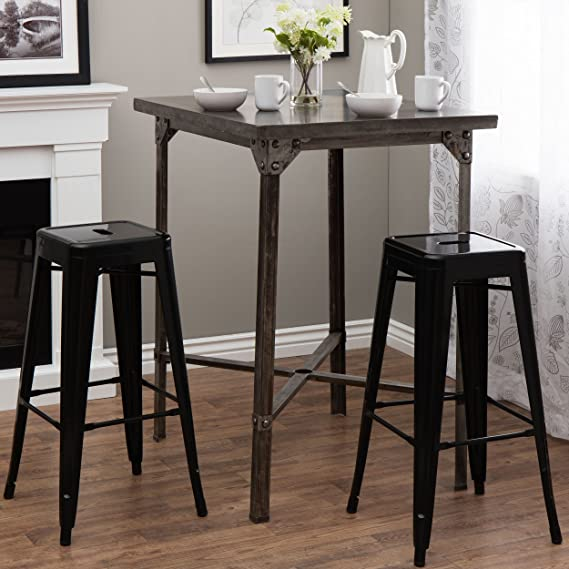 amazon com i love living tabouret 30 inch black metal bar stools