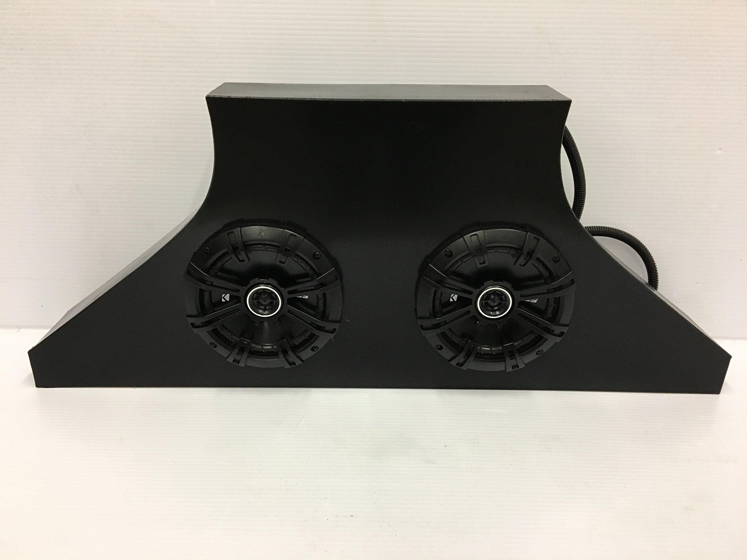 SD 2R2B -Polaris RZR Rear Stereo Box (2-6.5'' marine speakers)