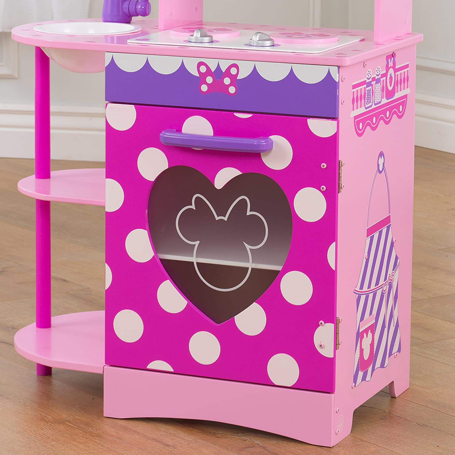 Amazon.com: KidKraft Disney Jr. Minnie Mouse Toddler Kitchen Play ...