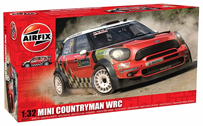 Airfix A03414 Mini Countryman WRC Set, 1:32 Scale