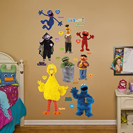 Amazon.com: Fathead Sesame Street Collection Real Big Wall Decal ...