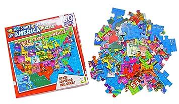 Amazoncom United States Of America USA Map Piece Jigsaw - United states map jigsaw puzzle online