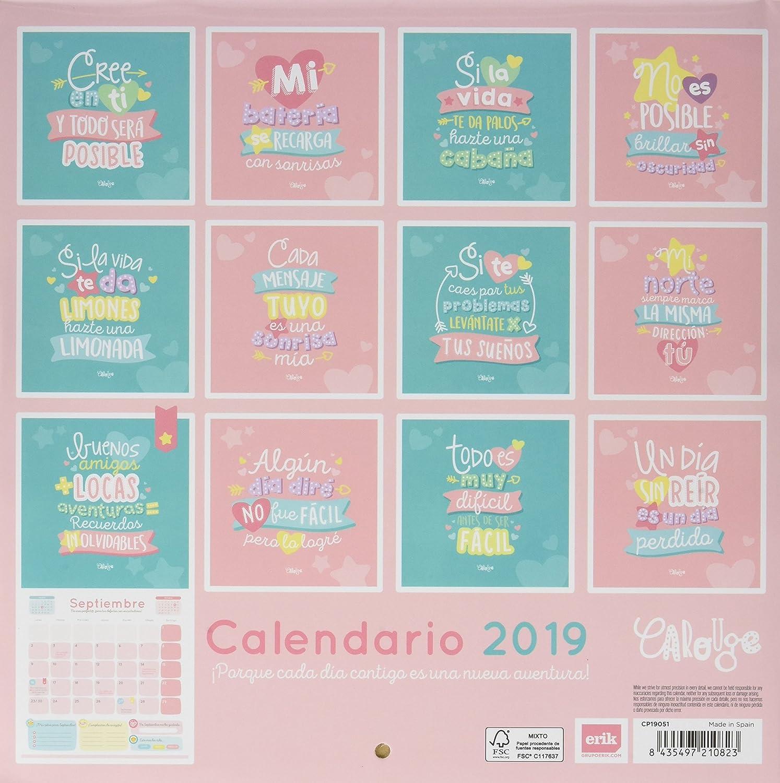 Calendario2019 12 Láminas 30x30 Cm Frases Amazones