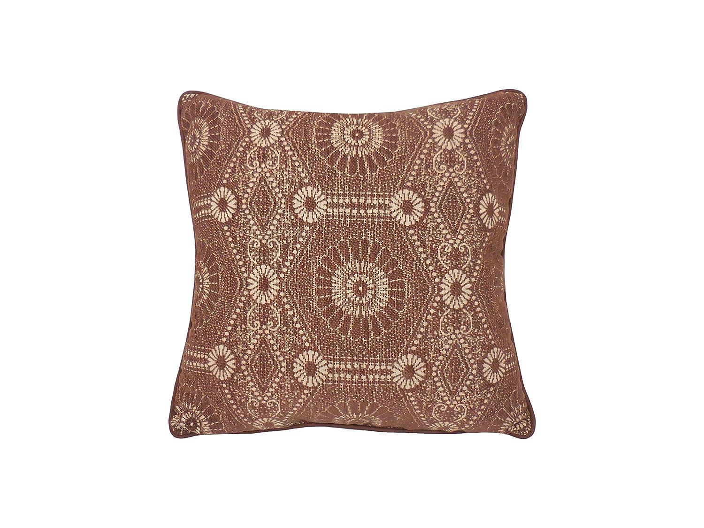 Chocolate Arlee Heston Chenille Medallion Toss Pillow