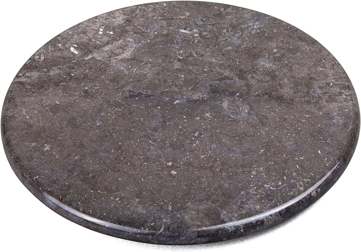 """Creative Home Charcoal Marble 12"""" Diam. Round Cheese Board"""