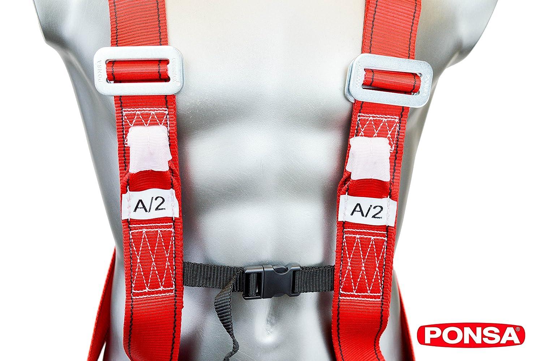 im R/ücken Auffanggurt mit 2 Anschlagpunkte 031289001001 CGPK8 und im Brustbereich mit 2 seitlichen Punkten zur Positionierung