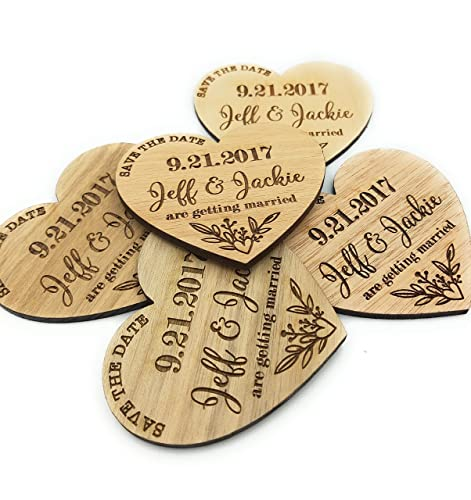 Wooden Magnet Natural Save the Date Magnet Save the Date Wood Save-the-Date Wedding Magnet Personalized Save Date Rustic Save the Date