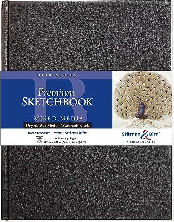 Stillman /& Birn : Zeta Sketchbook 8.25 x 11.75in Natural White Smooth A4 Hardbound 270gsm