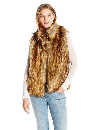 58257e2f4 BB Dakota Women's Colton Faux Fur Vest, Red Fox X-Small at Amazon ...