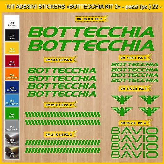 Kit Pegatinas Stickers Bicicleta BOTTECCHIA - Kit 2-22 Piezas- Bike Cycle Cod. 0847 (064 Verde Lime): Amazon.es: Deportes y aire libre