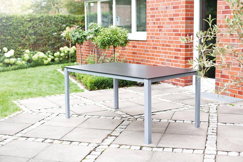 Kettler Tisch Kettalux Plus, silberanthrazit, 160 x 95 x 74 cm