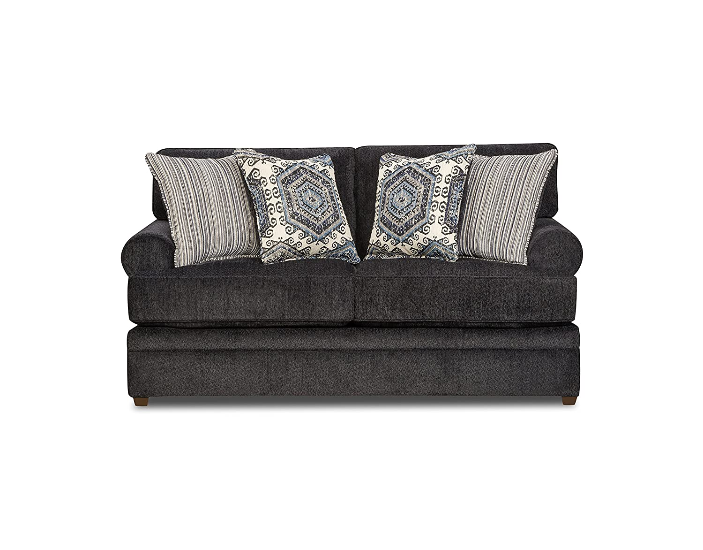 Simmons Upholstery 8530BR-02 Slate Bellamy Loveseat,