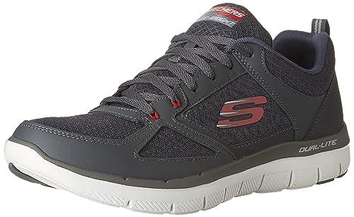 Skechers Men 52189 Trainers, Grey (Charcoal/Red), 5.5 UK (39
